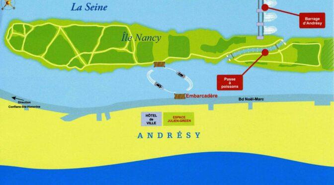 La passe à poissons d'Andrésy: une rivière sur la seine